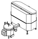 06652932 Automatyczny podajnik do spalania biomasy 2m3 400V 100kW, głowica: ceramiczna (paliwo: trociny, wióry, zrębki)