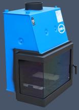 17043649 Wkład kominkowy Enka 13kW Wiktor Lewy UZ - do układów zamkniętych ciśnieniowych zabezpieczonych do 2,5 bar z płaszczem wodnym (lewa boczna szyba)
