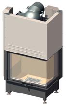 52232468 Wkład kominkowy 14,9kW Schmid Ekko W R 6751h z płaszczem wodnym, wysokość fasady: 510mm (prawa boczna szyba. drzwi podnoszone)