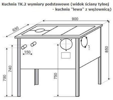 DOSTAWA GRATIS! 22774575 Kuchnia, angielka 6,5kW TK2-610 zabudowana z termometrem, bez płaszcza wodnego (kolor: kremowy) - spełnia anty-smogowy EkoProjekt