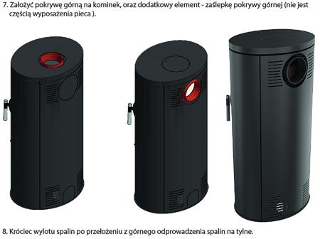 DOSTAWA GRATIS! 30055007 Piec wolnostojący koza 8kW AB GLASS (z panelami kaflowymi - czarny) - spełnia anty-smogowy EkoProjekt