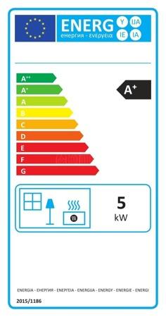 DOSTAWA GRATIS! 86872840 Piec wolnostojący Invicta 5kW Ovatio (kolor: antracyt) - spełnia anty-smogowy EkoProjekt