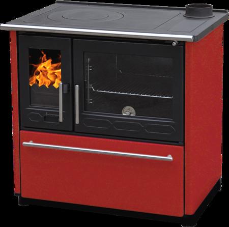 Kuchnia wolnostojąca, angielka na drewno 8kW, bez płaszcza wodnego (kolor: czerwony) 27772889