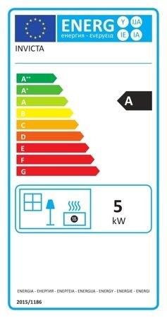 Piec wolnostojący Invicta 5kW Sedan S Plus (wylot spalin: góra, kolor: antracyt) - spełnia anty-smogowy EkoProjekt 86865693