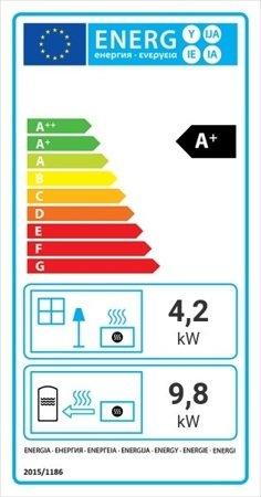 Wkład kominkowy 14kW AQUARIO A18 PW z płaszczem wodnym, wężownicą (szyba prosta) - spełnia anty-smogowy EkoProjekt 30041189